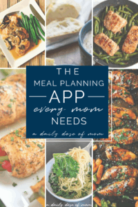The Meal Planning App Every Mom Needs Pinterest