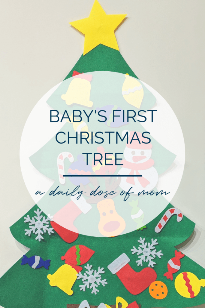 Baby's First Christmas Tree Pin