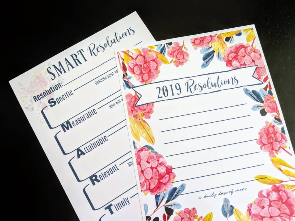 SMART Resolutions Printables