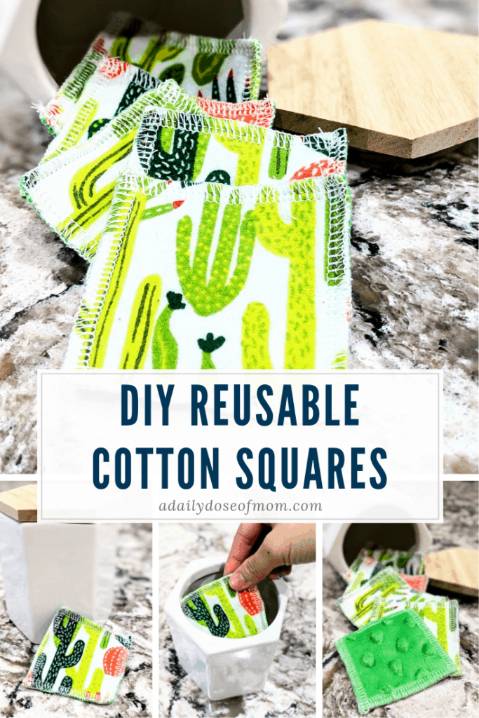 DIY Resuable Cotton Squares Pin
