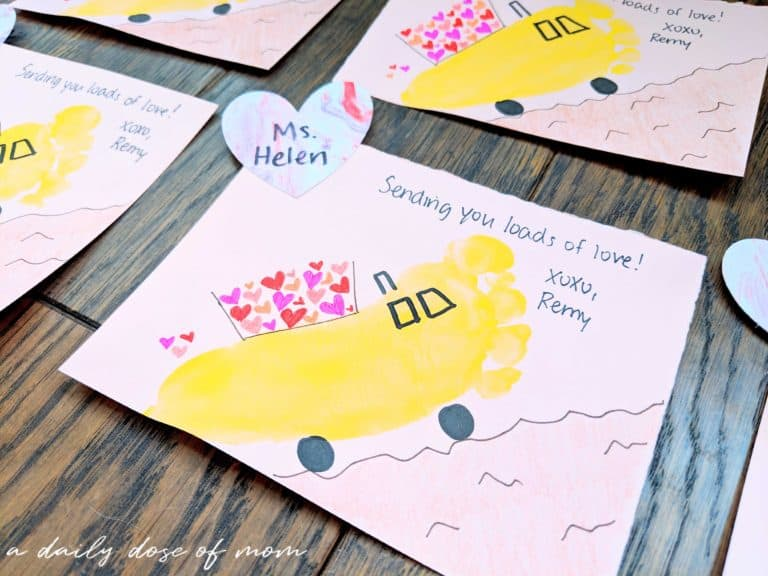 DIY Valentine's Day Construction Cards for Toddlers
