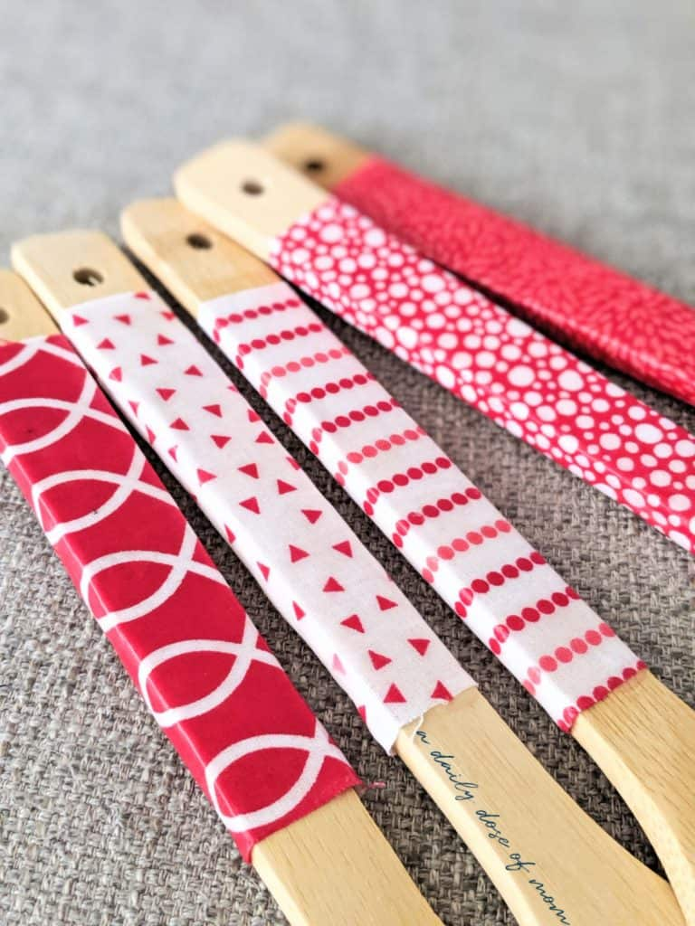DIY Fabric-Covered Wooden Utensils 4