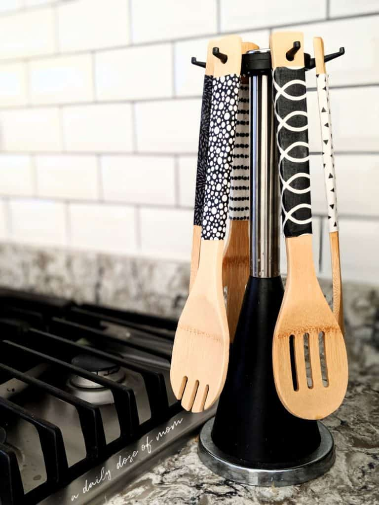 DIY Fabric-Covered Wooden Utensils 2
