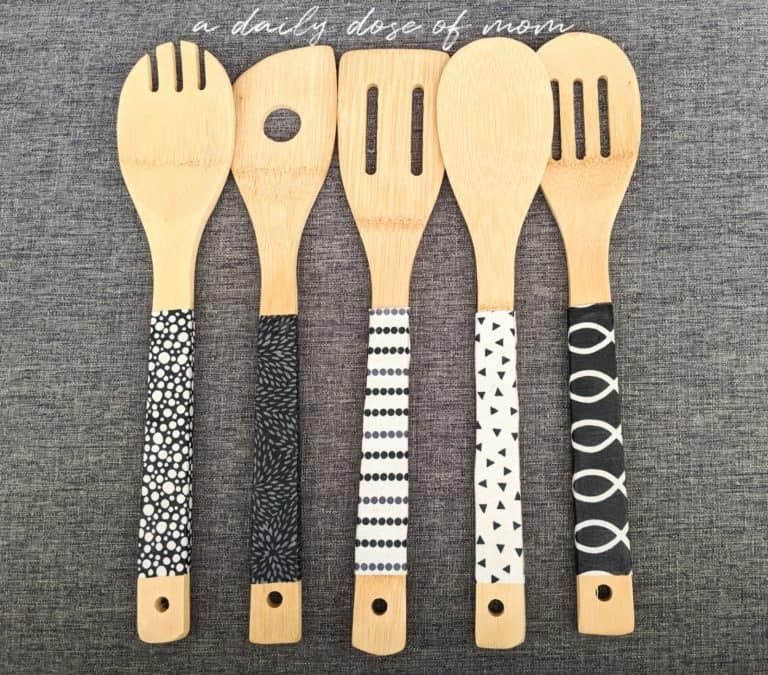 DIY Fabric-Covered Wooden Utensils