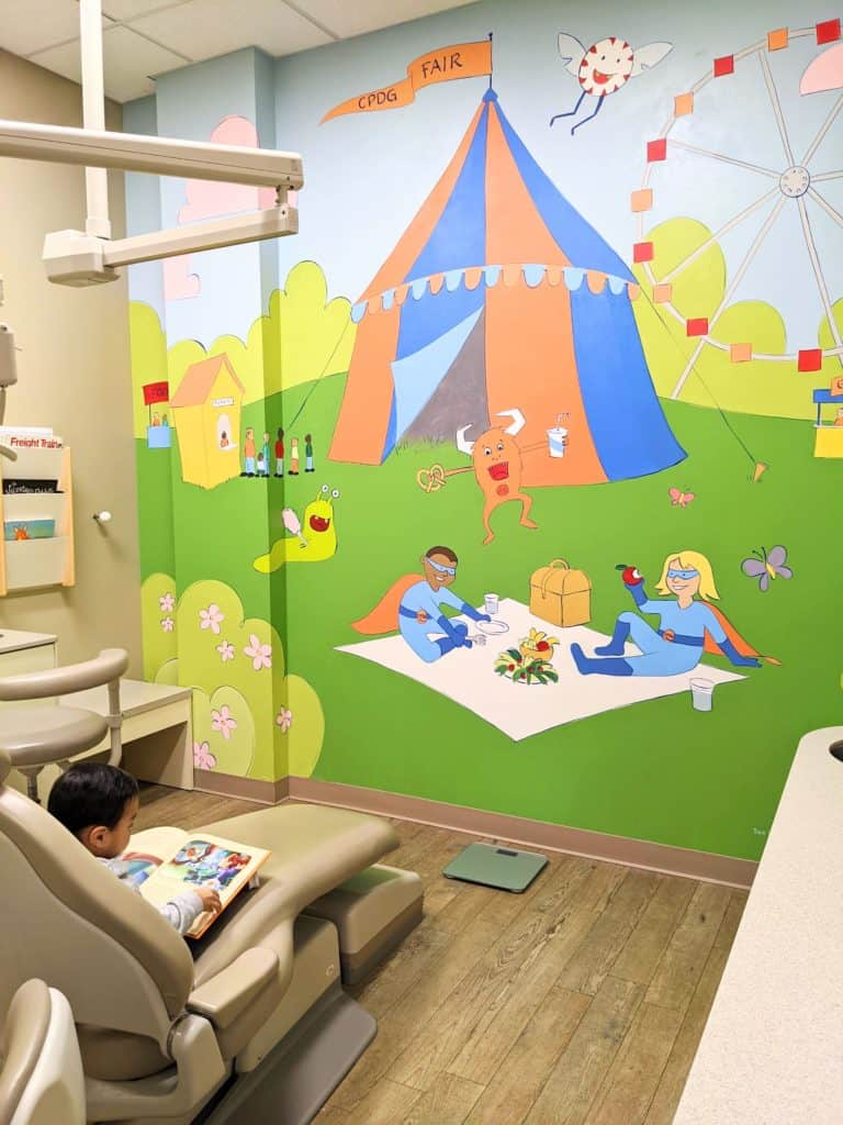 Child's First Dentist Visit Pediatric Dentist Exam Room 2