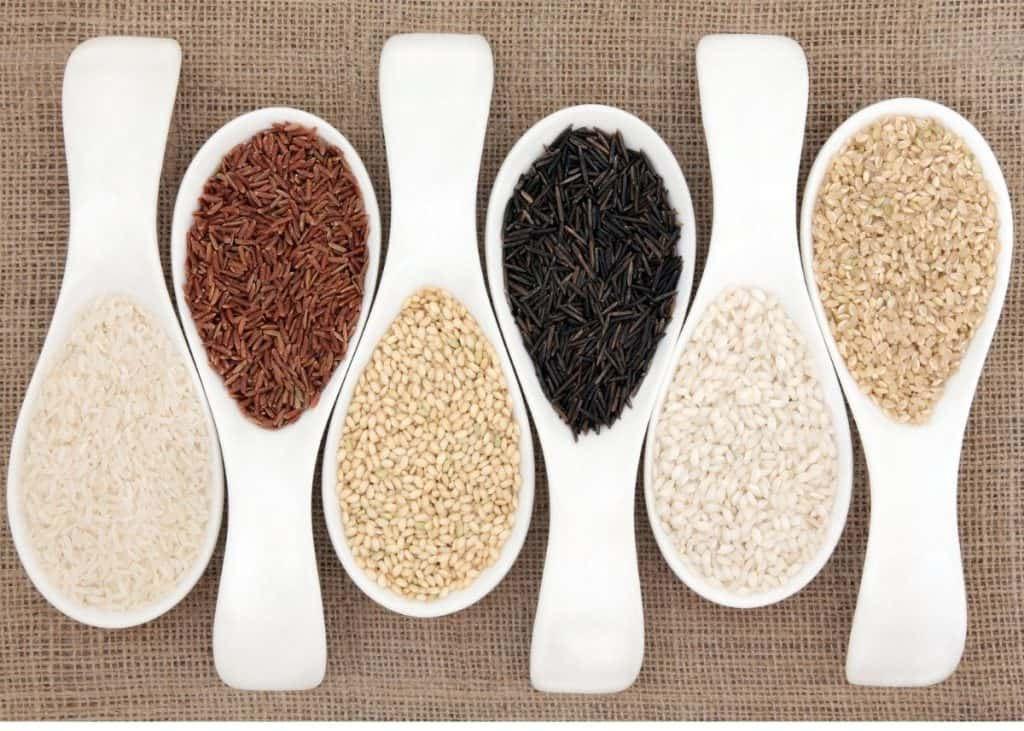 different types of rice that can be used to make rice water, such as white rice, brown rice, black rice