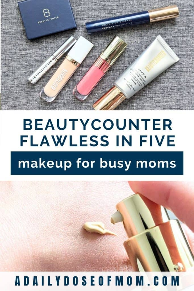 Beautycounter Flawless in Five Review for Moms Pin 1